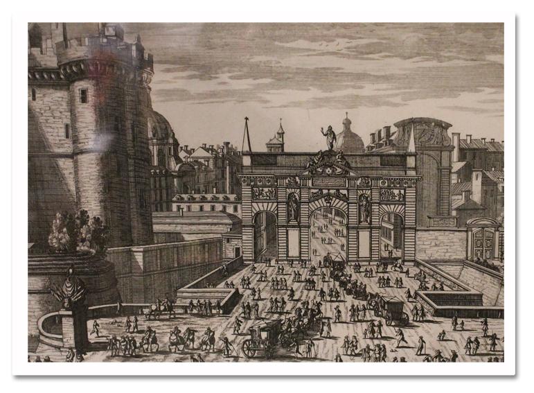Xi xii gravure bastille 1690 for Porte saint antoine