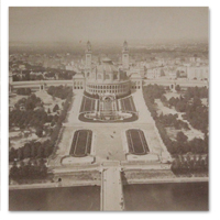 paris, panorama, trocadero, tour eiffel, 1890, photographie, photo, albumine, vintage
