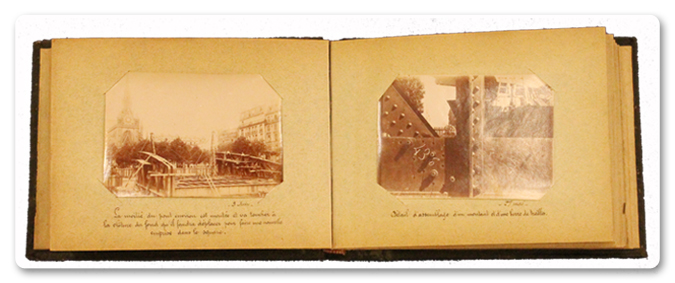album, photo, pont, lépine, paris, 1897, 18e, chemin de fer du nord, ponts et chaussees, la chapelle