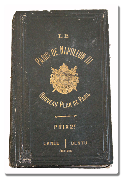 paris, plan, exposition universelle, 1867, ancien, napoleon iii, depliant, original