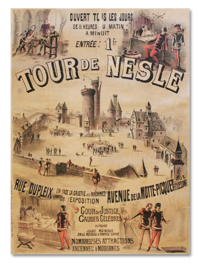 jonchez, tour de nesle, floucaud, 1889, exposition universelle, paris, affiche, originale, attraction, motte-piquet