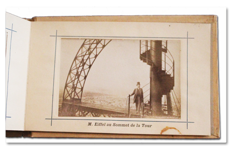 album, photo, tirage, albumine, tour eiffel, eiffel, neurdein, 1889, exposition universelle, ascenseur