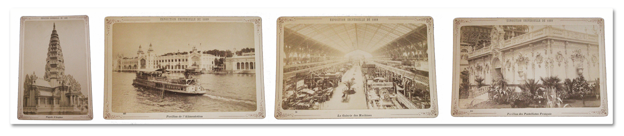 photographie, tirage, cabinet, exposition universelle, paris, 1889, original, pavillons