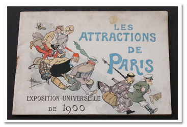 paris, exposition universelle, 1900, albert guillaume, attractions de Paris, attractions of paris, aquarium, marionnettes, bonshommes guillaume