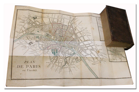paris, guide, prudhomme, voyage, 1814, edition originale, plan, gravures, promenades
