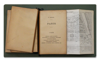 guide, joanne, paris, illustre, hachette, 1878, 1870, gravures, plan de paris