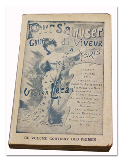 paris, guide, viveur, victor leca, paul fort, belle epoque, livre ancien, erotisme, prostitution