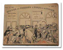 steinheil, agenda parisien, agenda des voyageurs, 1921, guide, albert guillaume, illustrations, plans
