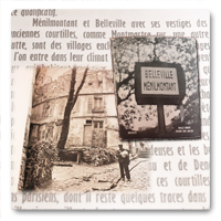 Ronis, Mac Orlan, Belleville Ménilmontant, paris, arthaud, 1954, edition originale, jaquette, bande, photo, heliogravure