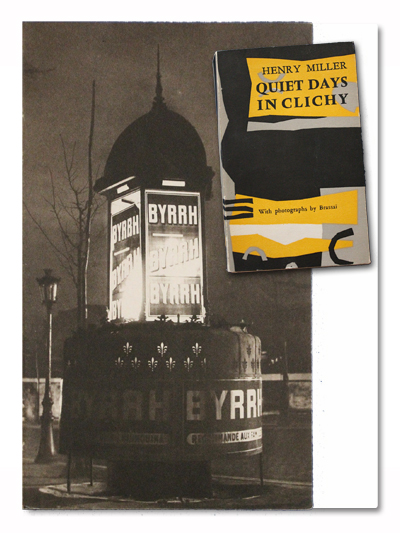 henry miller, brassai, quiet days in clichy, paris, olympia press, 1956, edition originale, original edition, photo
