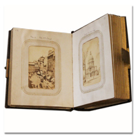 paris, album, photo, carte de visite, cdv, 1860, albumine, voyage, photographie, martinet