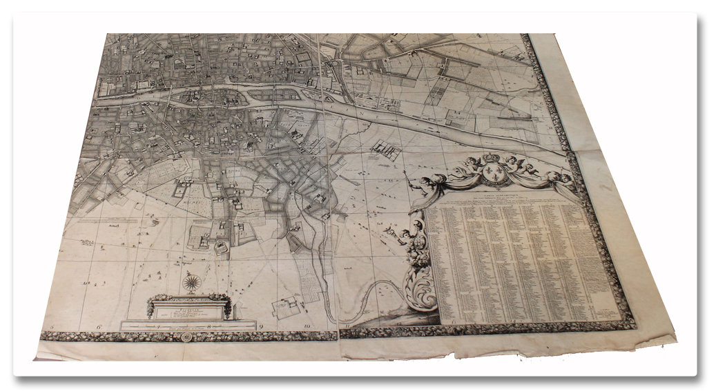 plan, paris, original, map, jouvin de rochefort, de fer, environs, 1692, 1714, planches