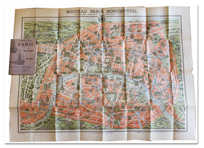 guilmin, paris, guide, allemand, leconte, 1937, versailles, plan monumental, couleurs