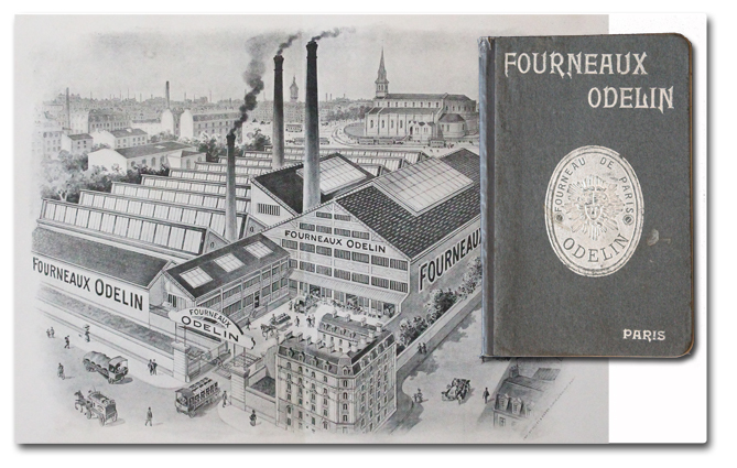 paris, catalogue, fourneaux odelin, bouquet et barry, 1904, usine, manufacture, rue du chateau des rentiers, xiiie, industrie