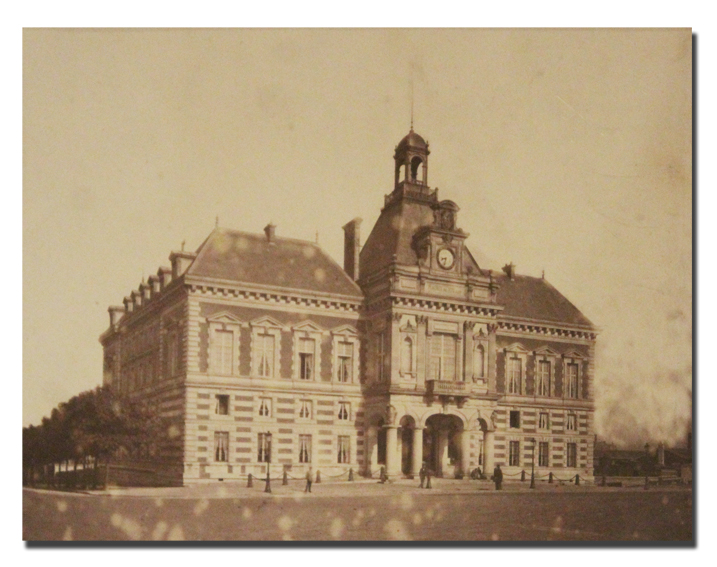 paris, photo, mairie du XIXe arrondissement, 1880, facade, albumine, vintage, 19e arrondissement