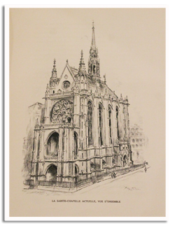 paris, histoire, albert robida, sainte chapelle, 1927, foyer francais, luxe, lafuma, illustrations