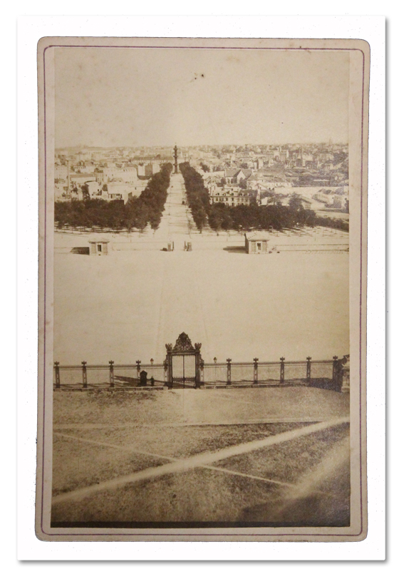 paris, photo, cabinet, photo ancienne, 1860, puits artesien, grenelle, avenue de breteuil, dome des invalides, pasteur