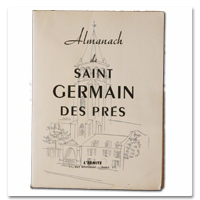 almanach, saint germain des pres, paris, l'ermite, 1950, edition originale, illustrations, marianne peretti, andré salmon, Georges pillement