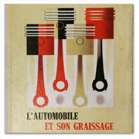 album, publicite, shell, essence, 1951, automobile, graissage, voiture