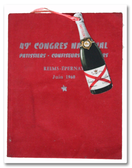 congres national, patissiers, confiseurs, glaciers, reims, epernay, champagne, 1960, programme, castellane